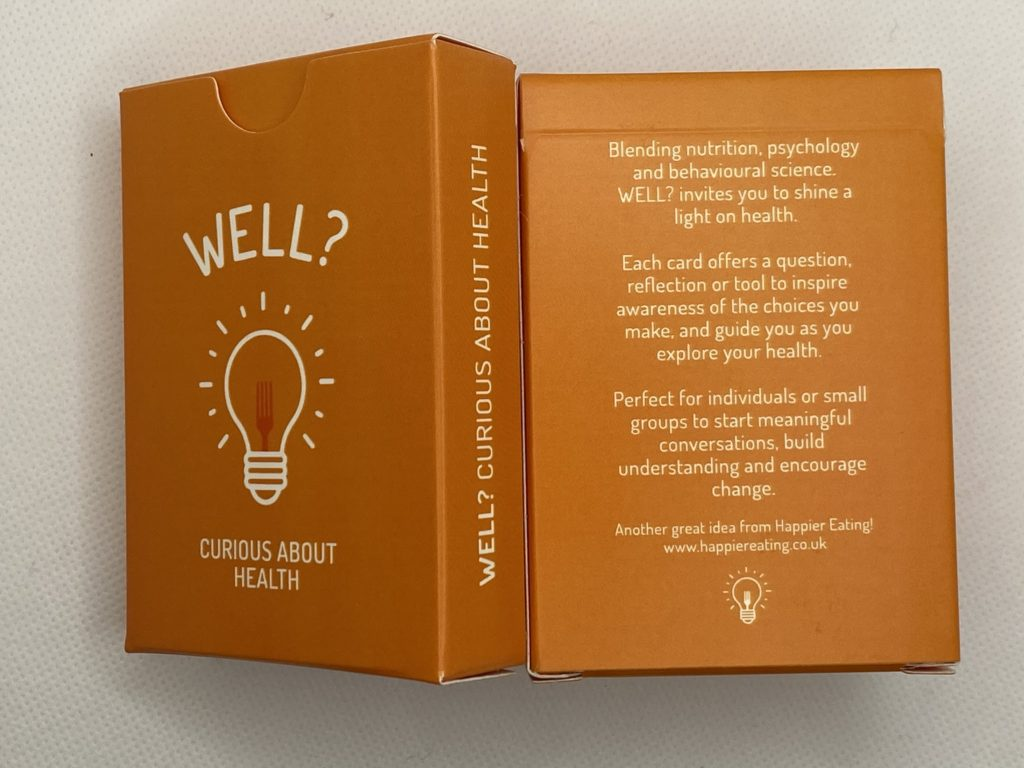 Beautifully presented, professionally produced and with unobtrusive branding, the cards fit easily into any practitioner toolkit.